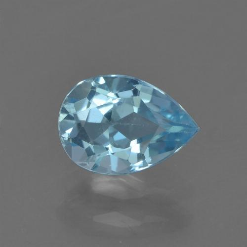 Sky Blue Topaz Gem - 0.9ct Pear Facet (ID: 455729)