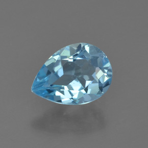 Sky Blue Topaz Gem - 0.8ct Pear Facet (ID: 455735)