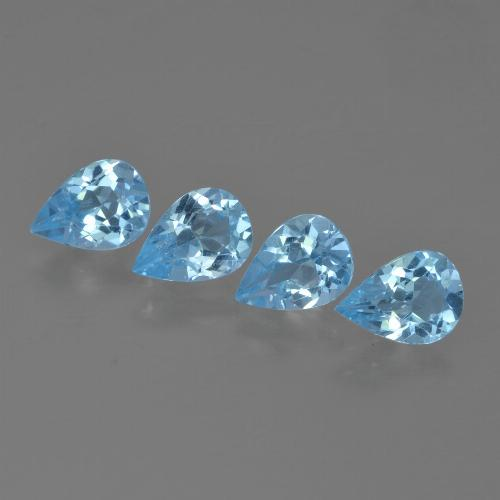 Sky Blue Topaz Gem - 0.8ct Pear Facet (ID: 455741)