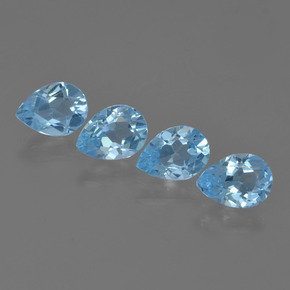 Sky Blue Topaz Gem - 0.8ct Pear Facet (ID: 455744)