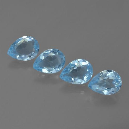 Swiss Blue Topaz Gem - 0.7ct Pear Facet (ID: 455746)