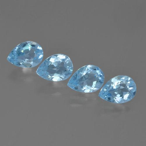 Sky Blue Topaz Gem - 0.8ct Pear Facet (ID: 455750)