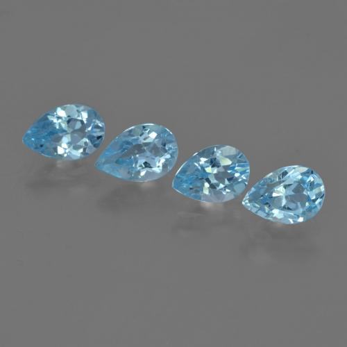 Sky Blue Topaz Gem - 0.8ct Pear Facet (ID: 455752)
