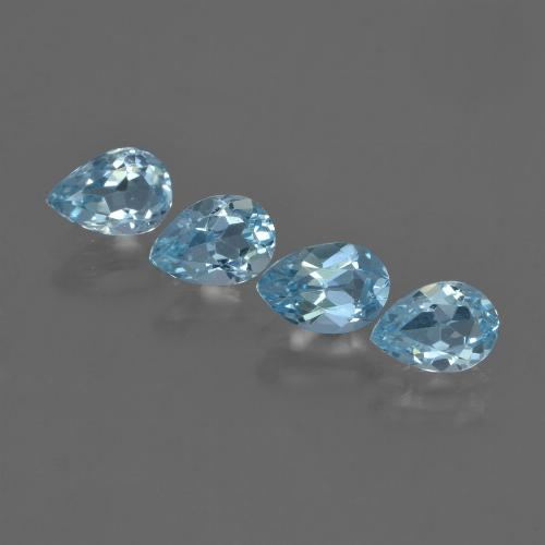 Sky Blue Topaz Gem - 0.8ct Pear Facet (ID: 455754)