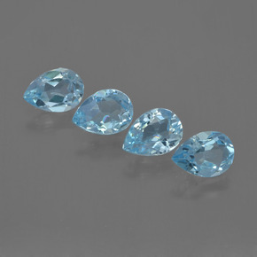 Sky Blue Topaz Gem - 0.8ct Pear Facet (ID: 455757)
