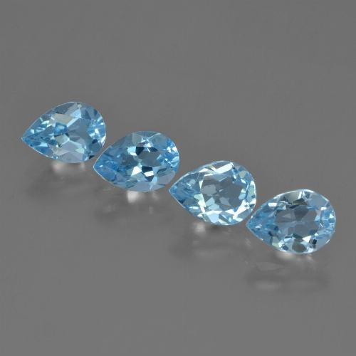 Sky Blue Topaz Gem - 0.9ct Pear Facet (ID: 455760)