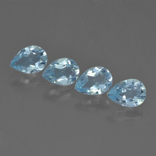 Sky Blue Topaz Gem - 0.8ct Pear Facet (ID: 455762)