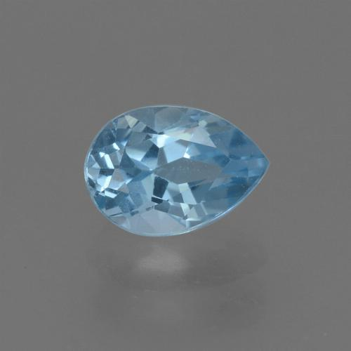 Sky Blue Topaz Gem - 0.9ct Pear Facet (ID: 455766)