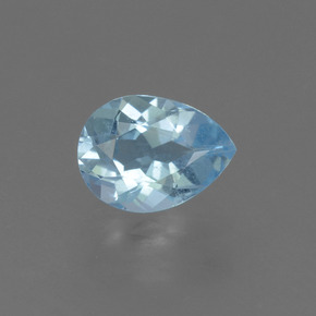 0.8ct Pear Facet Sky Blue Topaz Gem (ID: 455768)