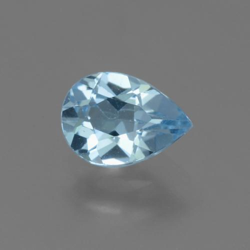 Sky Blue Topaz Gem - 0.8ct Pear Facet (ID: 455771)