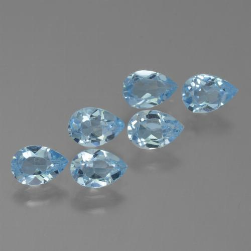 Sky Blue Topaz Gem - 0.6ct Pear Facet (ID: 455791)