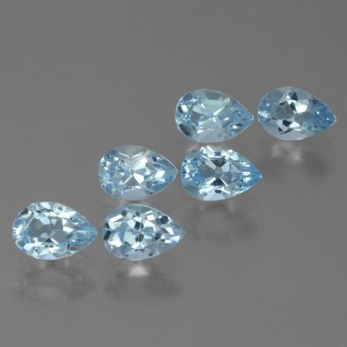 Sky Blue Topaz Gem - 0.6ct Pear Facet (ID: 455795)