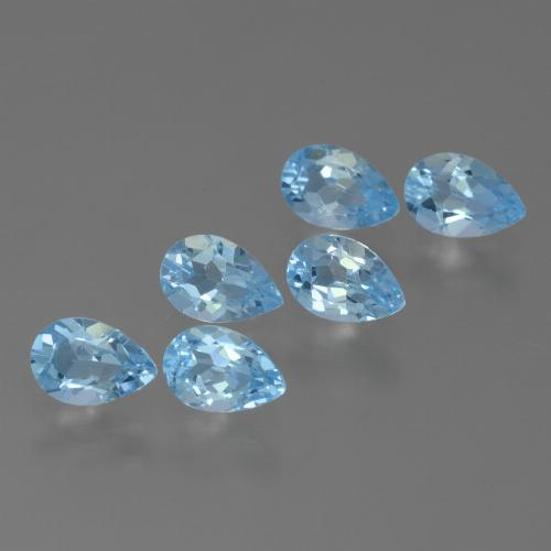 Sky Blue Topaz Gem - 0.5ct Pear Facet (ID: 455812)