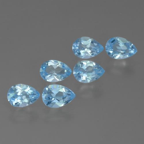 Sky Blue Topaz Gem - 0.5ct Pear Facet (ID: 455817)