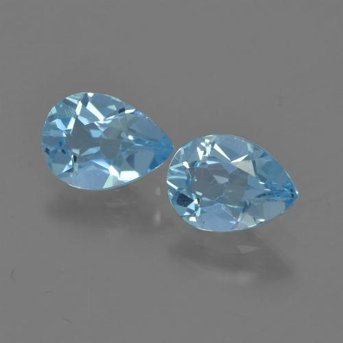 Sky Blue Topaz Gem - 0.8ct Pear Facet (ID: 455847)