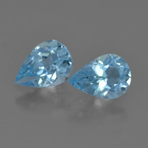 Sky Blue Topaz Gem - 0.8ct Pear Facet (ID: 455855)