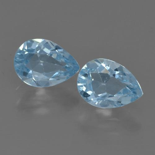Sky Blue Topaz Gem - 0.9ct Pear Facet (ID: 455857)