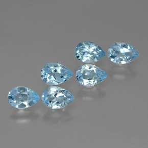 Sky Blue Topaz Gem - 0.5ct Pear Facet (ID: 455861)