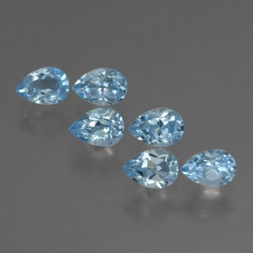 Sky Blue Topaz Gem - 0.6ct Pear Facet (ID: 455866)