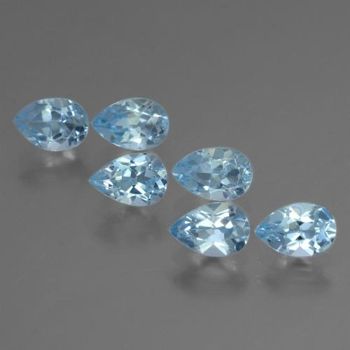 Sky Blue Topaz Gem - 0.6ct Pear Facet (ID: 455868)