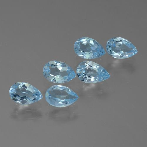 Sky Blue Topaz Gem - 0.5ct Pear Facet (ID: 455869)