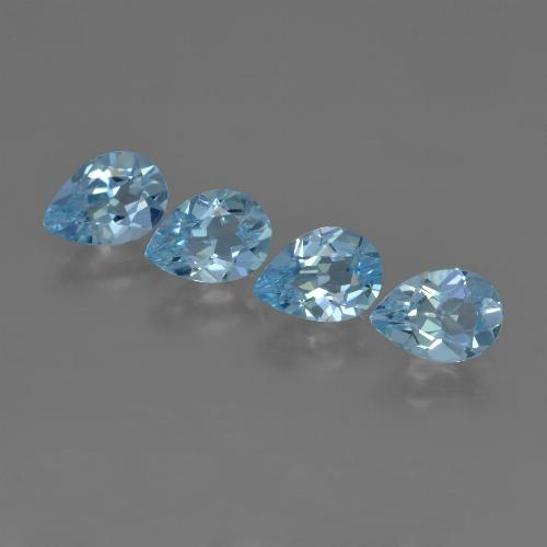 Sky Blue Topaz Gem - 0.8ct Pear Facet (ID: 455871)