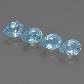 Sky Blue Topaz Gem - 0.9ct Pear Facet (ID: 455877)