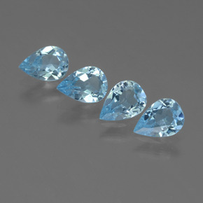 Sky Blue Topaz Gem - 0.7ct Pear Facet (ID: 455883)