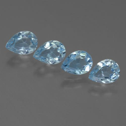 Sky Blue Topaz Gem - 0.8ct Pear Facet (ID: 455884)