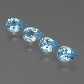 Sky Blue Topaz Gem - 0.7ct Pear Facet (ID: 455888)
