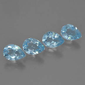 Sky Blue Topaz Gem - 0.9ct Pear Facet (ID: 455898)