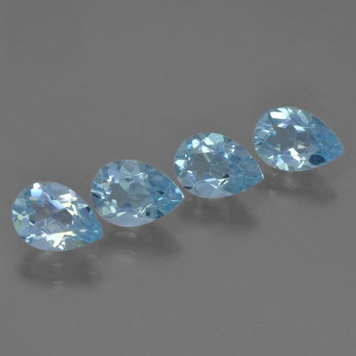 Sky Blue Topaz Gem - 0.8ct Pear Facet (ID: 455902)