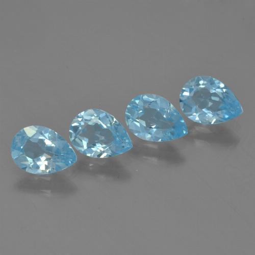 Baby Blue Topaz Gem - 0.8ct Pear Facet (ID: 455904)