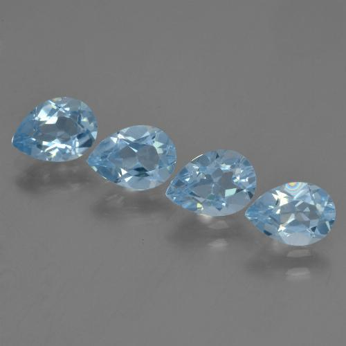Sky Blue Topaz Gem - 0.8ct Pear Facet (ID: 455905)