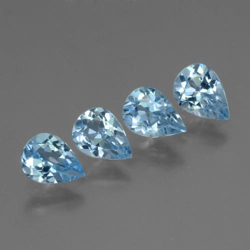 Sky Blue Topaz Gem - 0.7ct Pear Facet (ID: 455908)