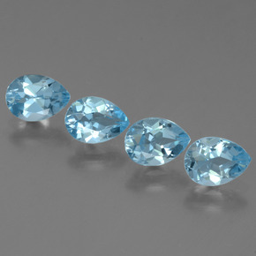 Sky Blue Topaz Gem - 0.9ct Pear Facet (ID: 455909)