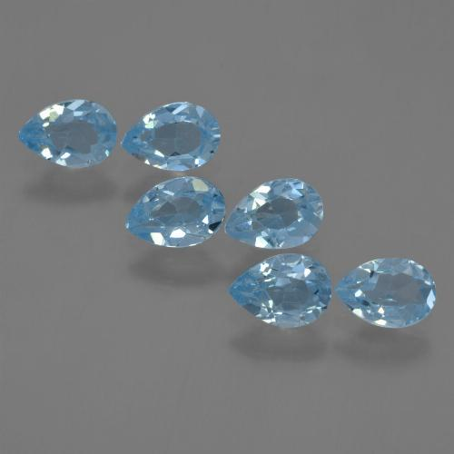 Sky Blue Topaz Gem - 0.5ct Pear Facet (ID: 455919)