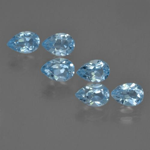 Sky Blue Topaz Gem - 0.6ct Pear Facet (ID: 455921)