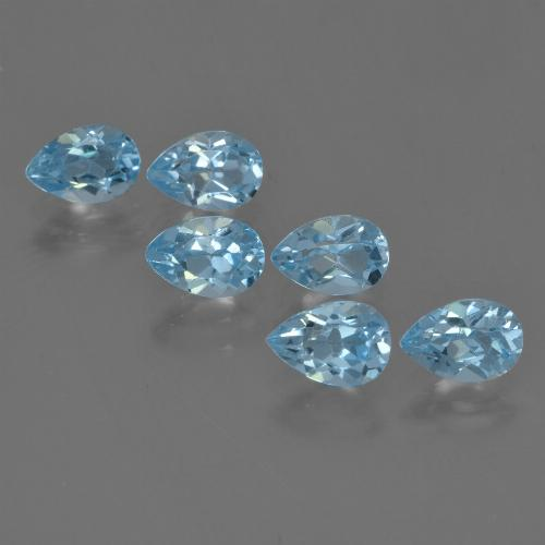Sky Blue Topaz Gem - 0.6ct Pear Facet (ID: 455926)