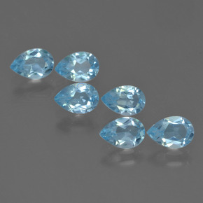 Sky Blue Topaz Gem - 0.5ct Pear Facet (ID: 455929)