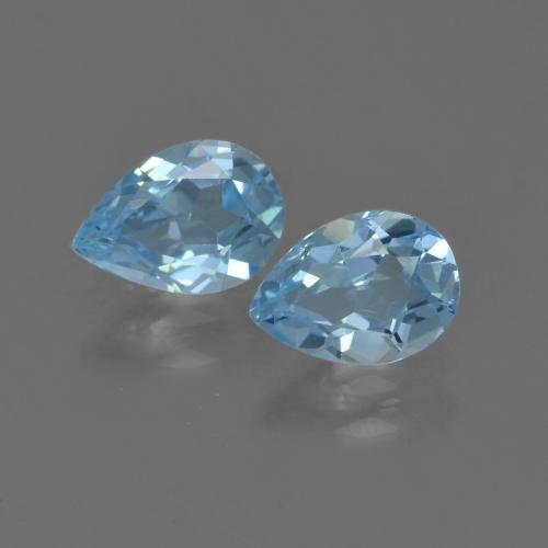 Sky Blue Topaz Gem - 0.8ct Pear Facet (ID: 455931)