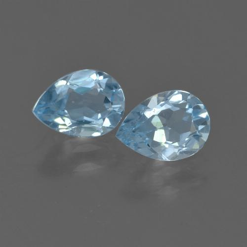 Sky Blue Topaz Gem - 0.8ct Pear Facet (ID: 455932)