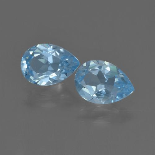 Swiss Blue Topaz Gem - 0.8ct Pear Facet (ID: 455933)