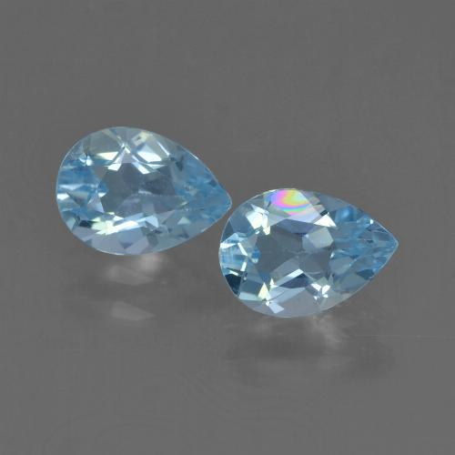 Sky Blue Topaz Gem - 0.8ct Pear Facet (ID: 455936)