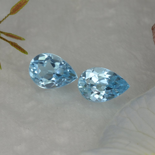 Baby Blue Topaz Gem - 0.8ct Pear Facet (ID: 455937)