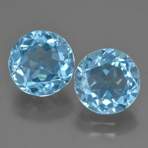Light Blue Topaz Gem - 2.3ct Round Facet (ID: 455959)