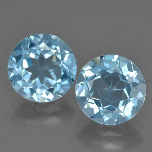 Sky Blue Topaz Gem - 2.2ct Round Facet (ID: 455963)