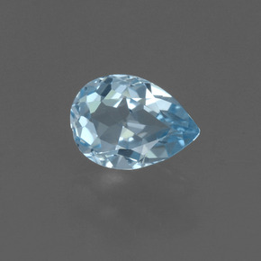 Sky Blue Topaz Gem - 0.8ct Pear Facet (ID: 455972)
