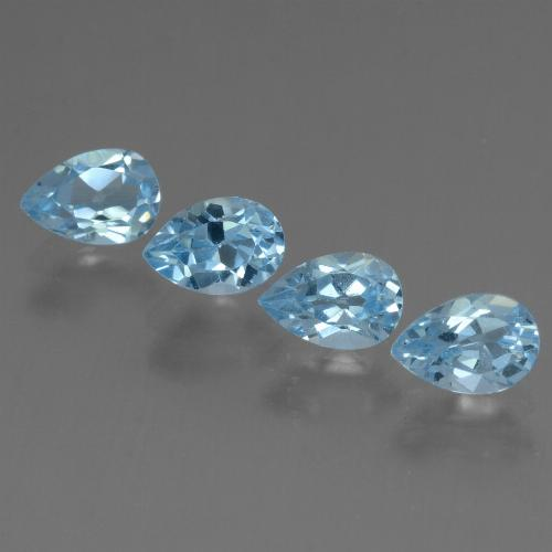 Sky Blue Topaz Gem - 0.6ct Pear Facet (ID: 455987)