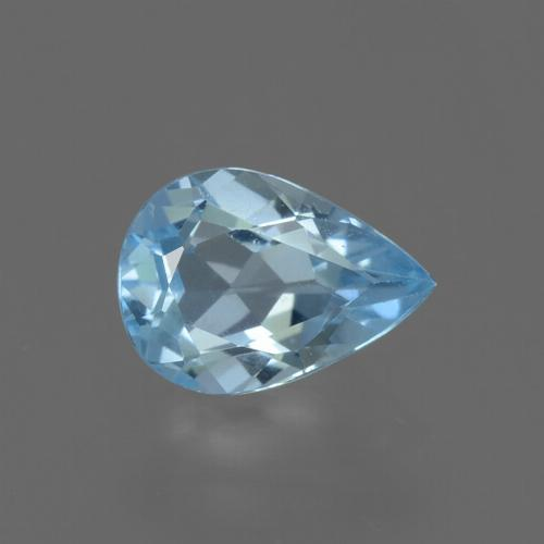 Sky Blue Topaz Gem - 0.8ct Pear Facet (ID: 456006)